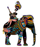 Ethnic Circus Stock Photography