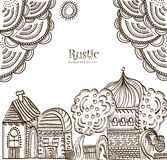 Ethnic City. Background in ethnic style of the various elements Royalty Free Stock Images
