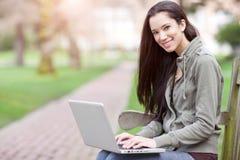 Ethnic college student Stock Photo