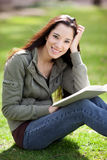 Ethnic college student studying royalty free stock photos