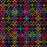Ethnic colored carpet. Ethnic carpet with colored motifs Stock Images