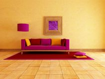 Ethnic colored living room Stock Photo