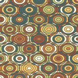 Ethnic colored ornamental Texture with Circles Royalty Free Stock Photography