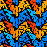 Ethnic colorful floral hand drawn doodle slyle seamless pattern Royalty Free Stock Images