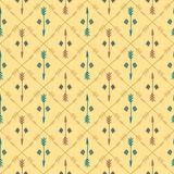 Ethnic colorful seamless pattern with arrows. Hand Royalty Free Stock Image
