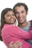 Ethnic Couple. Happy smiling ethnic couple isolated royalty free stock photo
