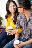 Ethnic couple. Young happy loving ethnic couple stock photography