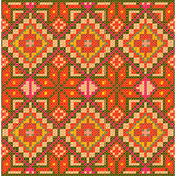 Ethnic cross stitch pattern. Seamless background vector illustration