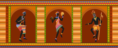 Ethnic dance african people Royalty Free Stock Photo