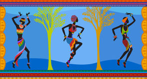 Ethnic dance african people Royalty Free Stock Images