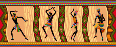 Ethnic dance african people royalty free illustration