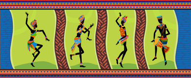 Ethnic dance african people Stock Images