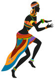 Ethnic dance african woman Royalty Free Stock Image