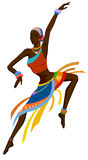 Ethnic dance african woman Royalty Free Stock Photos