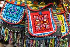 Ethnic decorated bag. Royalty Free Stock Photo