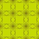 Ethnic decorative handmade green seamless pattern. Islam, Arabic, Indian, Ottoman motifs. Vector Stock Image