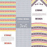 Ethnic design banners set. Vertical banners set. Ethnic design banners vector illlustration Royalty Free Stock Image
