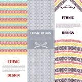 Ethnic design banners set Royalty Free Stock Image