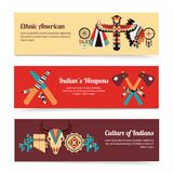 Ethnic design concept banners Stock Image