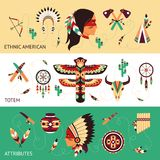 Ethnic design concept banners Royalty Free Stock Photography
