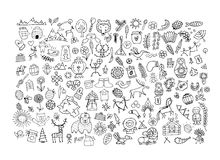 Ethnic design elements sketch Stock Images
