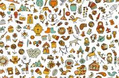 Ethnic design elements sketch Stock Image