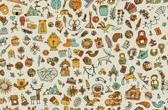 Ethnic design elements sketch Royalty Free Stock Photography