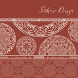 Ethnic design. Vector background. Vintage Ornament Pattern. The Stock Photos