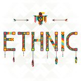 Ethnic design word with ornament Royalty Free Stock Photo