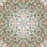 Ethnic Digital Lace Floral Print. Digital intricate lace inspired floral print in neutrals with accents of turquoise Stock Photo