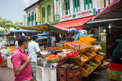 Ethnic district Little India in Singapore Royalty Free Stock Image