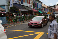 Ethnic district Little India in Singapore Stock Photos