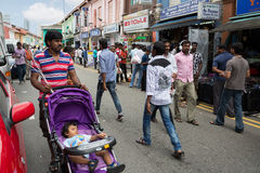 Ethnic district Little India in Singapore Stock Photo