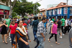 Ethnic district Little India in Singapore Royalty Free Stock Images