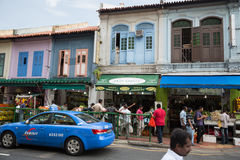Ethnic district Little India in Singapore Royalty Free Stock Photos