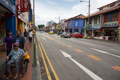 Ethnic district Little India in Singapore Stock Image