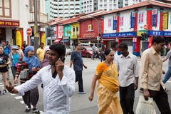 Ethnic district Little India in Singapore Stock Photography