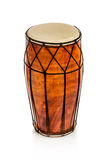 Ethnic drum. On white background royalty free stock images