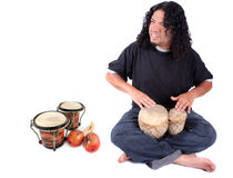 Ethnic drummer Stock Photos