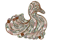 Ethnic duck. On a white background Stock Image