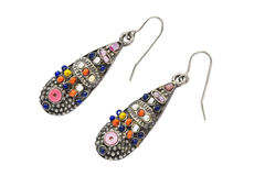 Ethnic earrings Stock Photography