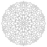 Ethnic element mandala. Circular pattern coloring page for Royalty Free Stock Photography