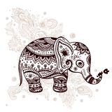Ethnic elephant illustration Royalty Free Stock Photos