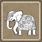 Ethnic elephant.  Indian style. Stock Photos