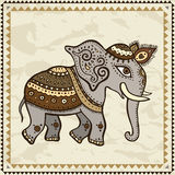 Ethnic elephant.  Indian style. Royalty Free Stock Photography