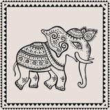 Ethnic elephant. Indian style. Stock Photography