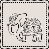 Ethnic elephant. Indian style. Royalty Free Stock Image