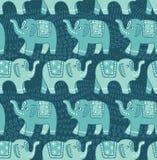 Ethnic elephant seamless pattern Stock Image