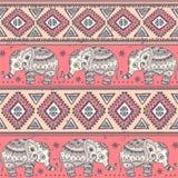 Ethnic elephant seamless Royalty Free Stock Images