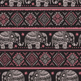 Ethnic elephant seamless Stock Photography